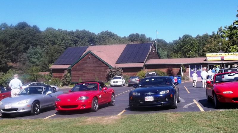 Mass. Miata Club at Southwick's Zoo